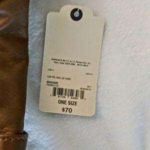 St. John's Bay Bags - St. john's Bay Leather Multi-zipper Hobo Bag